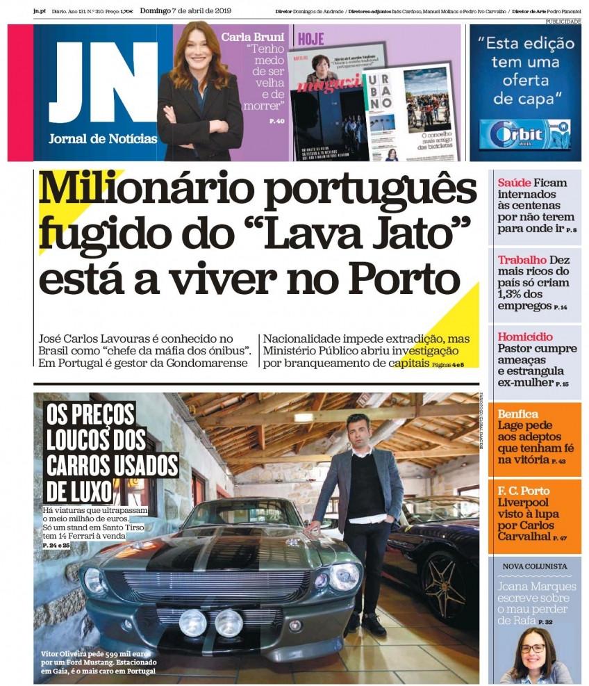 Hoje é notícia: Pastor estrangula mulher; Português do Lava Jato no Porto