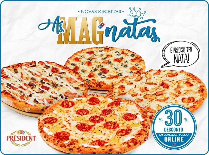 As natas estão em destaque no novo menu da Domino's Pizza