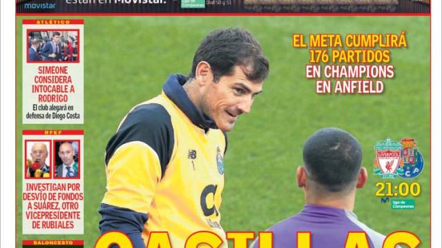 Lá fora: A lenda de Casillas e o regresso de CR7