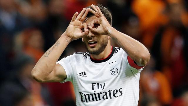 Salvio recuperado na véspera do duelo europeu com Eintracht Frankfurt