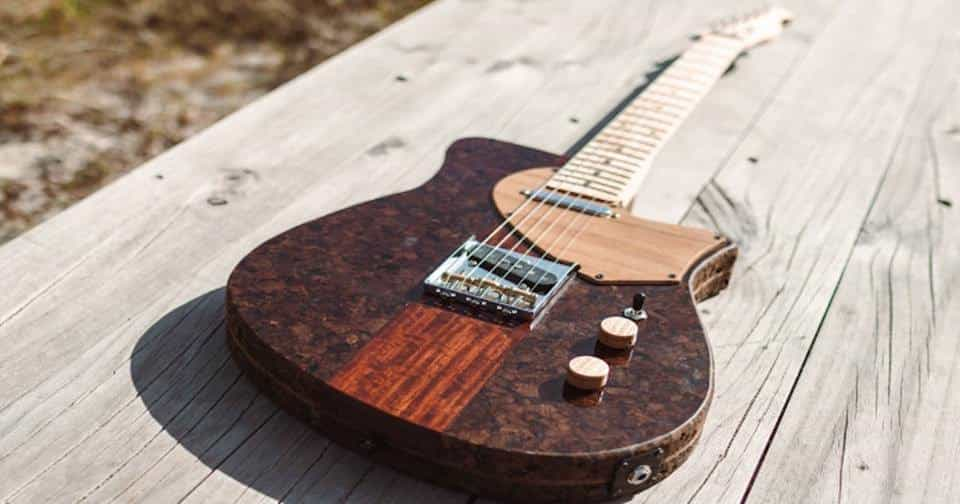 Primeira guitarra de cortiça expandida do mundo foi feita por português