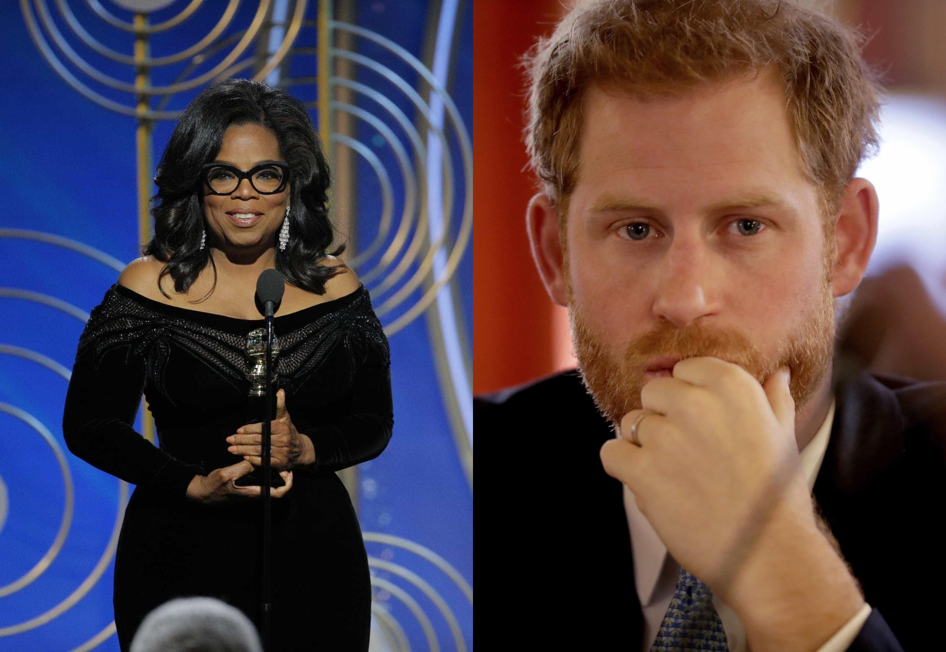 Príncipe Harry e Oprah Winfrey vão produzir série sobre saúde mental