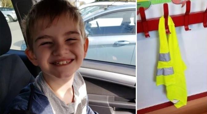 Escola obrigou menino autista a usar colete refletor como identificação