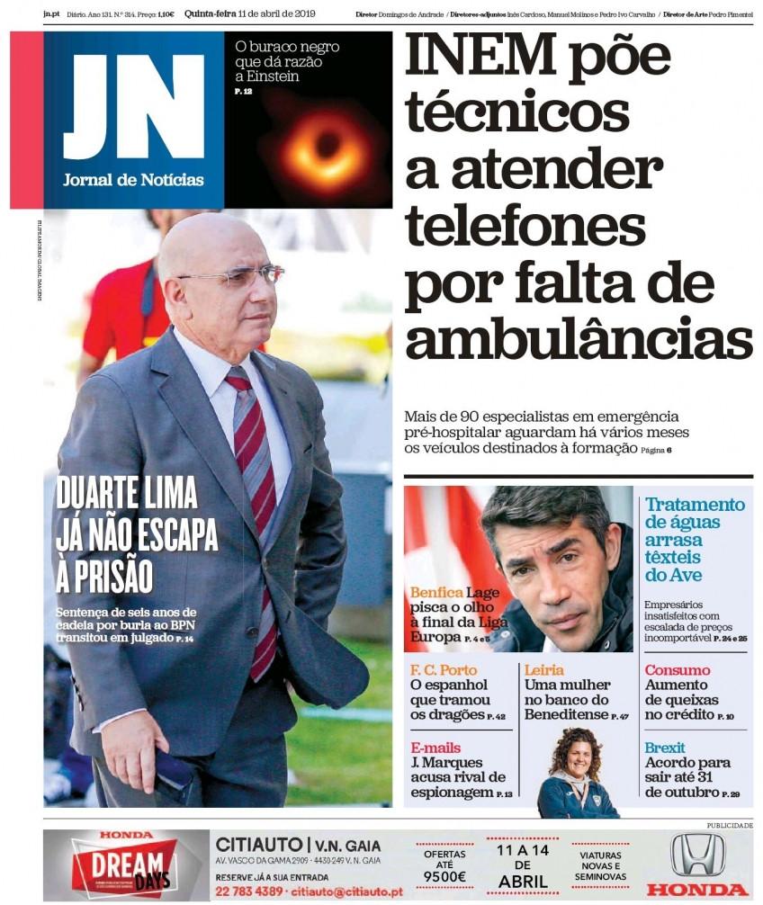 Hoje é notícia: Técnicos do INEM atendem telefones; CGD paga por segredos