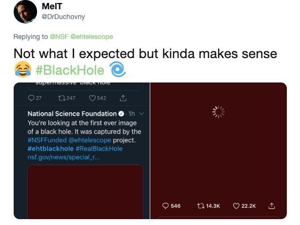 Internet não desilude e parodia primeira imagem de um buraco negro