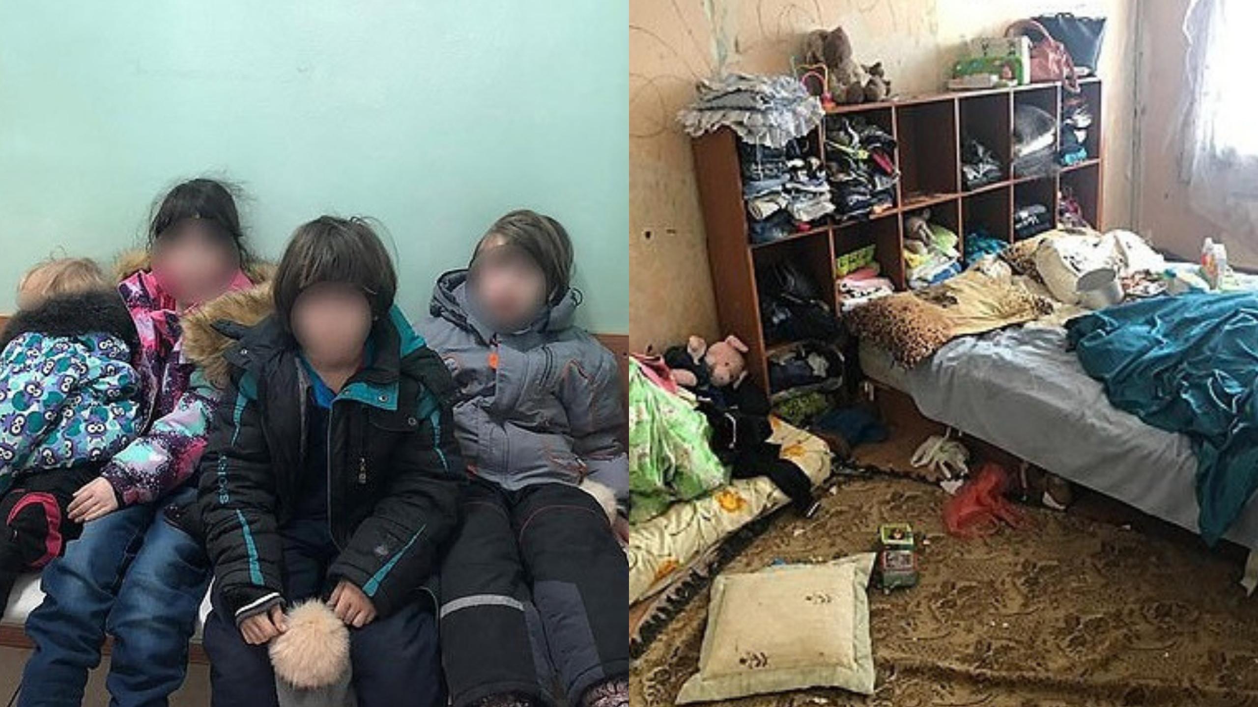 Quatro crianças resgatadas após denúncia. Viviam no lixo, mal sabem falar