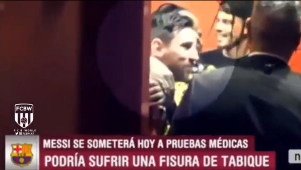 O fillho jogou, mas a mãe de Lukaku apenas se preocupou em agarrar Messi