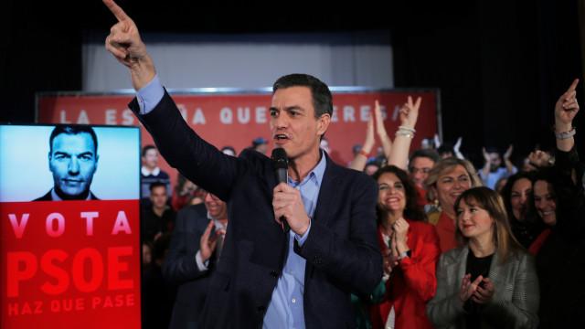 Espanha: PSOE volta a subir e contraria quebra