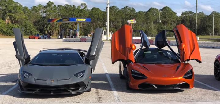 Lamborghini Aventador SVJ ou McLaren 720S? Drag race acaba com as dúvidas