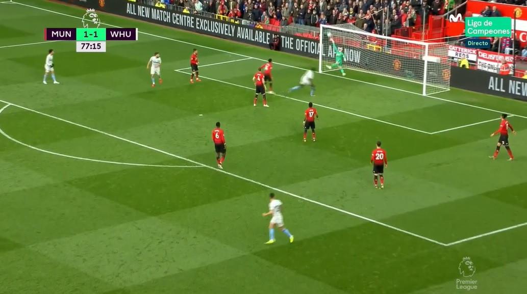 A fantástica defesa de De Gea que levou o West Ham ao desespero