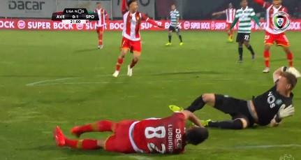 Salin cometeu uma grande penalidade que Falcão não desperdiçou