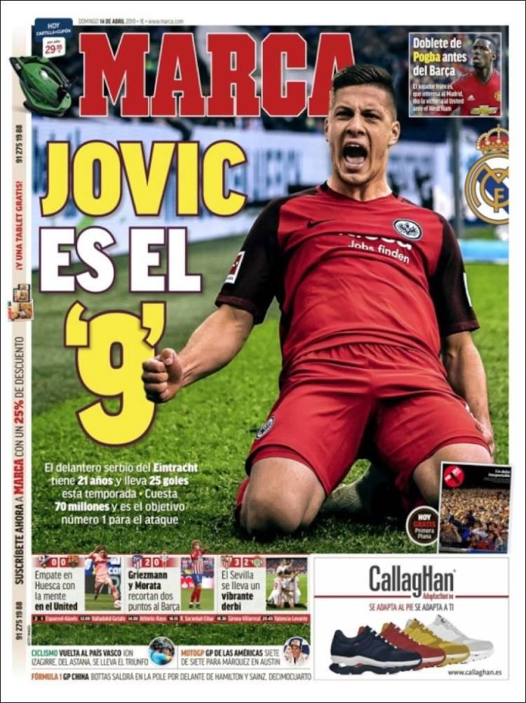 Lá fora: Jovic é o escolhido pelo Real Madrid
