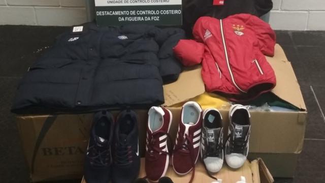 Calçado e roupa no valor de 8.500 euros apreendidos na Nazaré