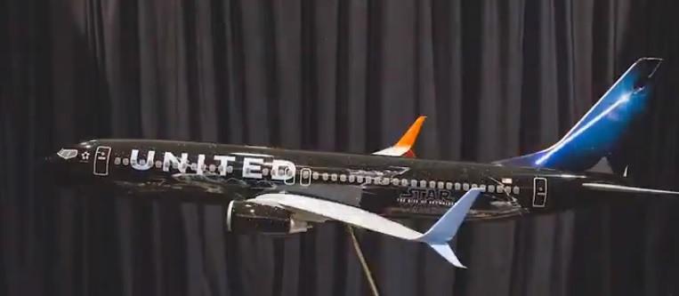 Avião da United vai ter pintura especial para celebrar novo Star Wars