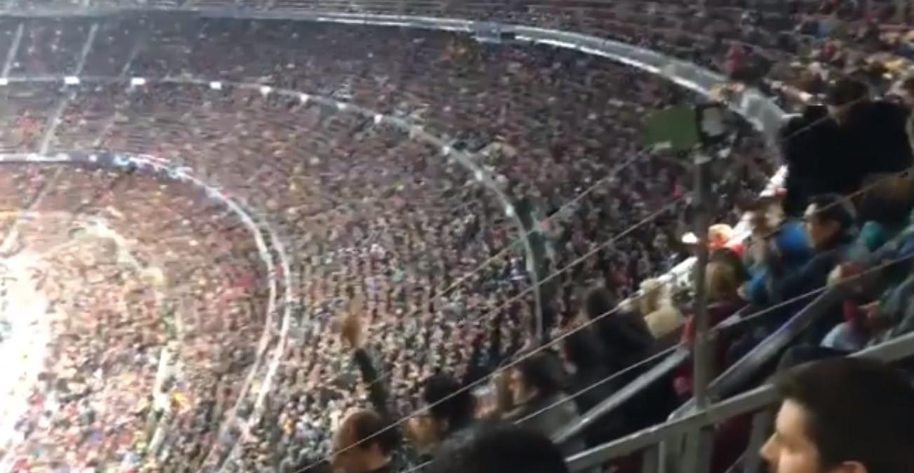 Adeptos do Barcelona vibraram com Messi e... o adeus de CR7 à Champions