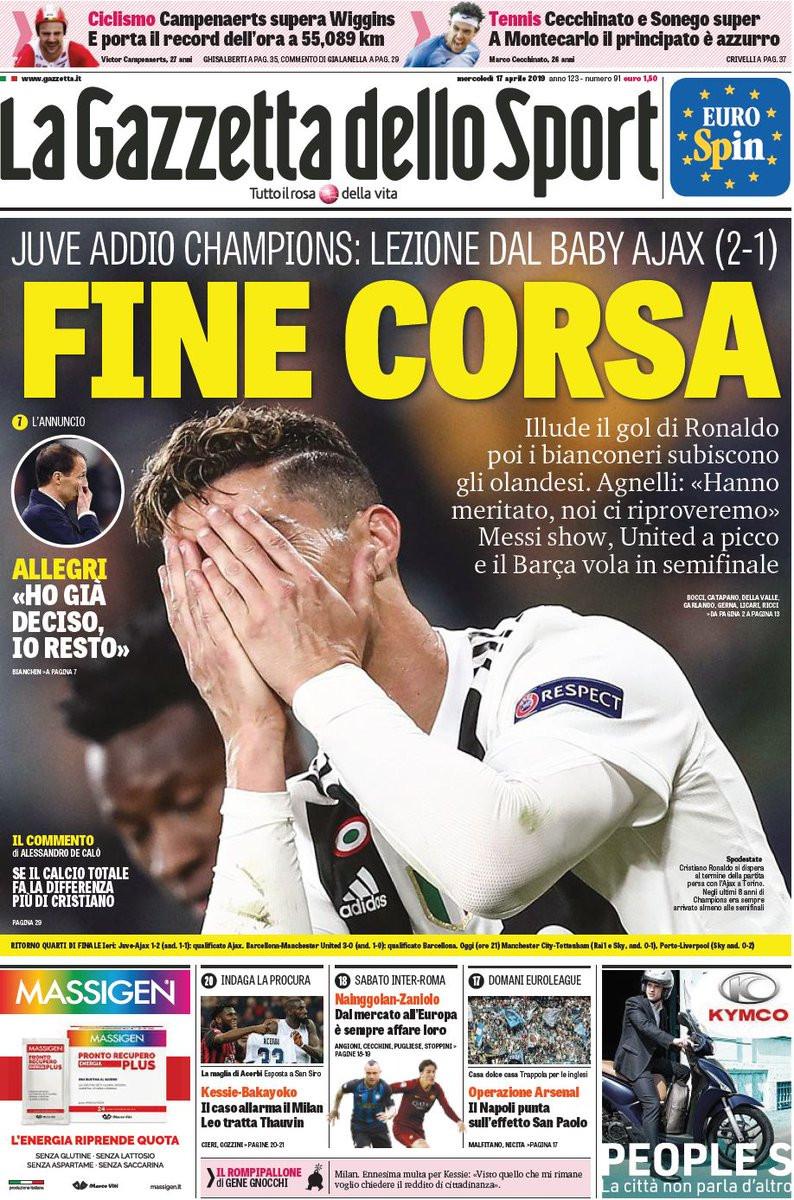 Lá fora: O mundo desabou para Ronaldo e centrou-se em Messi