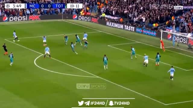 Quatro minutos e Sterling marcou um golaço no City-Tottenham