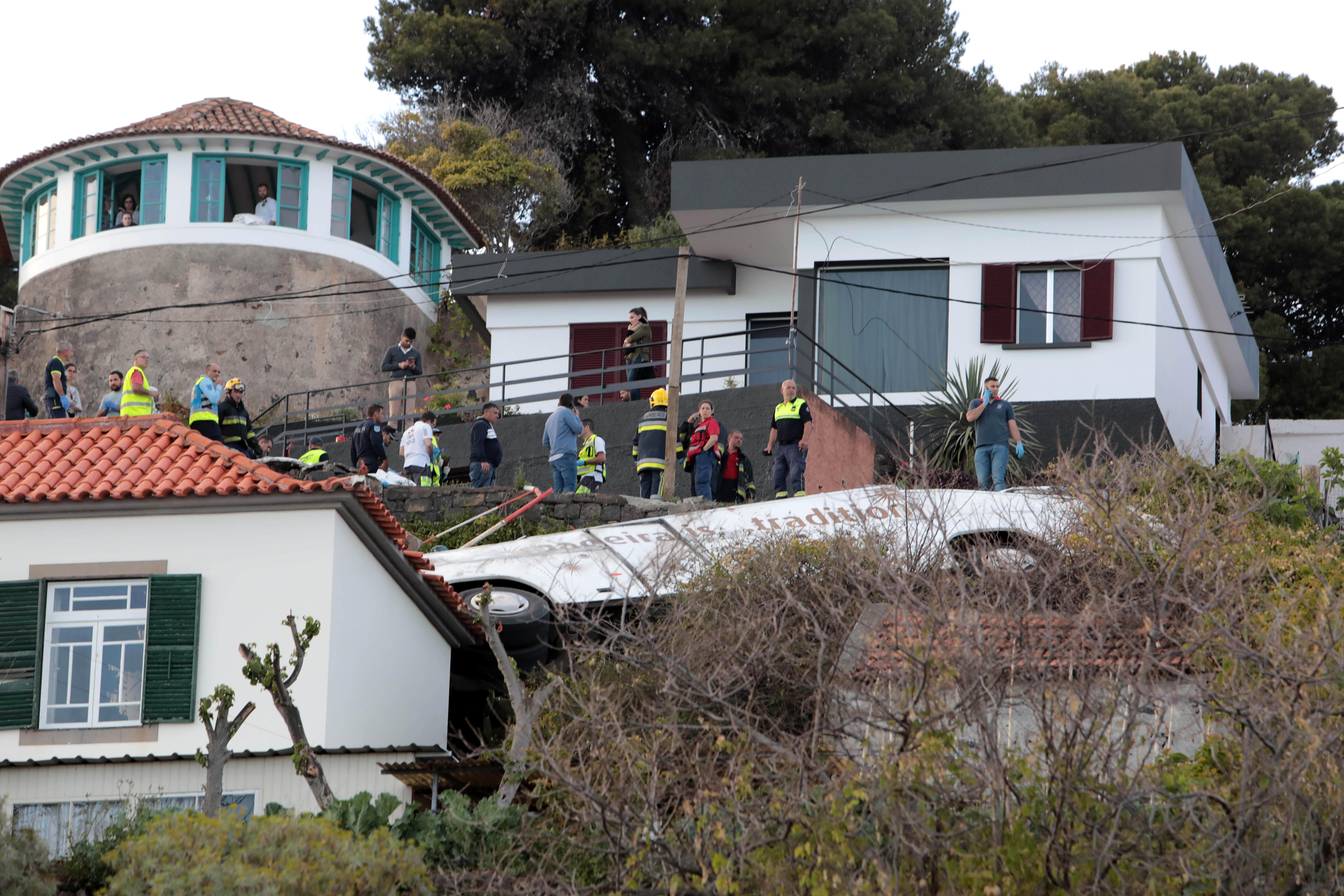 O acidente mortal na Madeira em imagens
