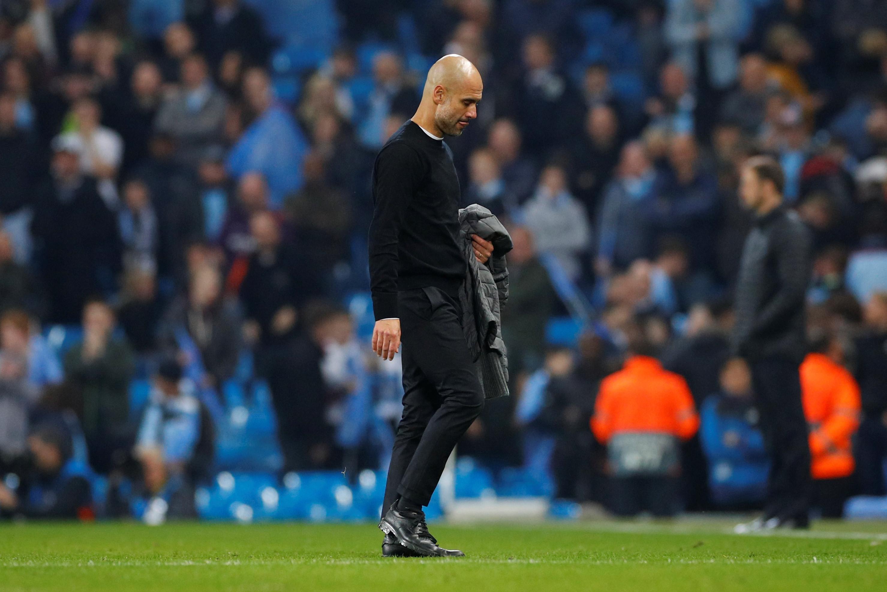 """Guardiola desolado: """"É duro. É cruel. Mas temos de aceitar"""""""