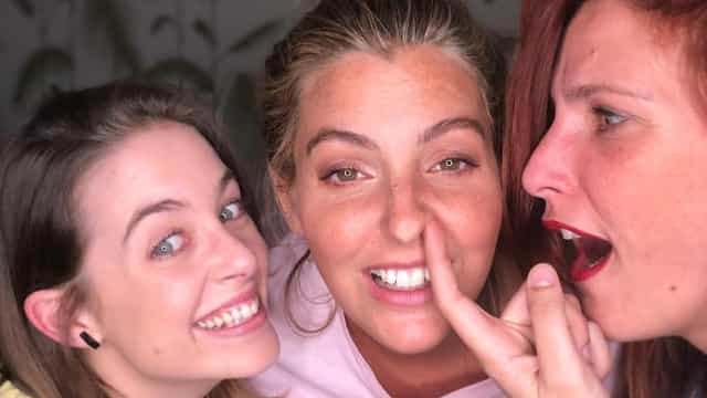 Jessica Athayde, Victoria Guerra e Inês Castel-Branco divertidas