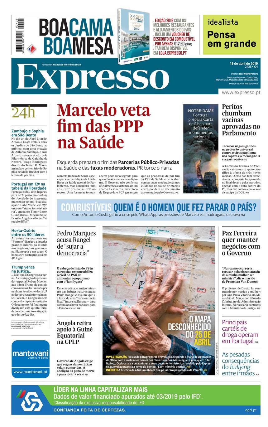 Hoje é notícia: Marcelo veta fim de PPP na Saúde, Pedófilos violam bebés