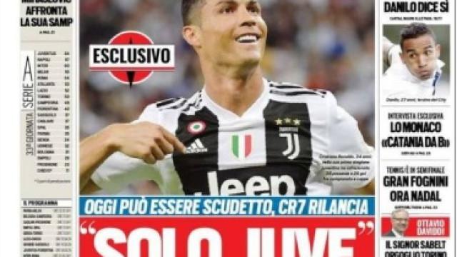 Lá fora: Será dia de título para a Juve de Cristiano Ronaldo?