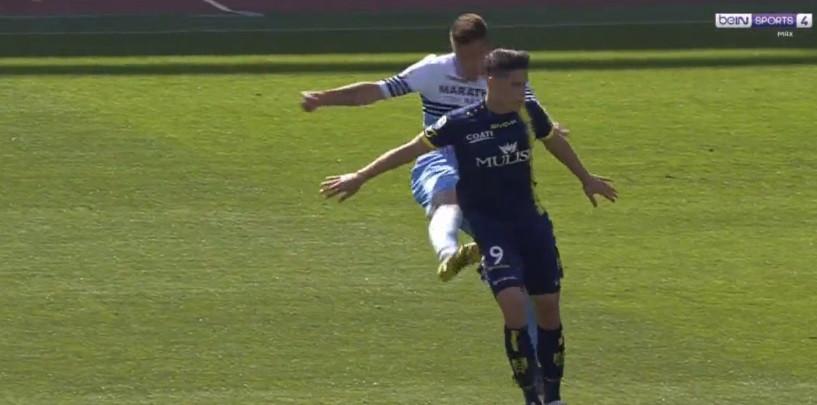 Jogador da Lazio deu um pontapé no rabo de um adversário e foi.. expulso