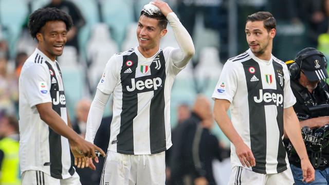 A reação de Cristiano Ronaldo à conquista da Serie A