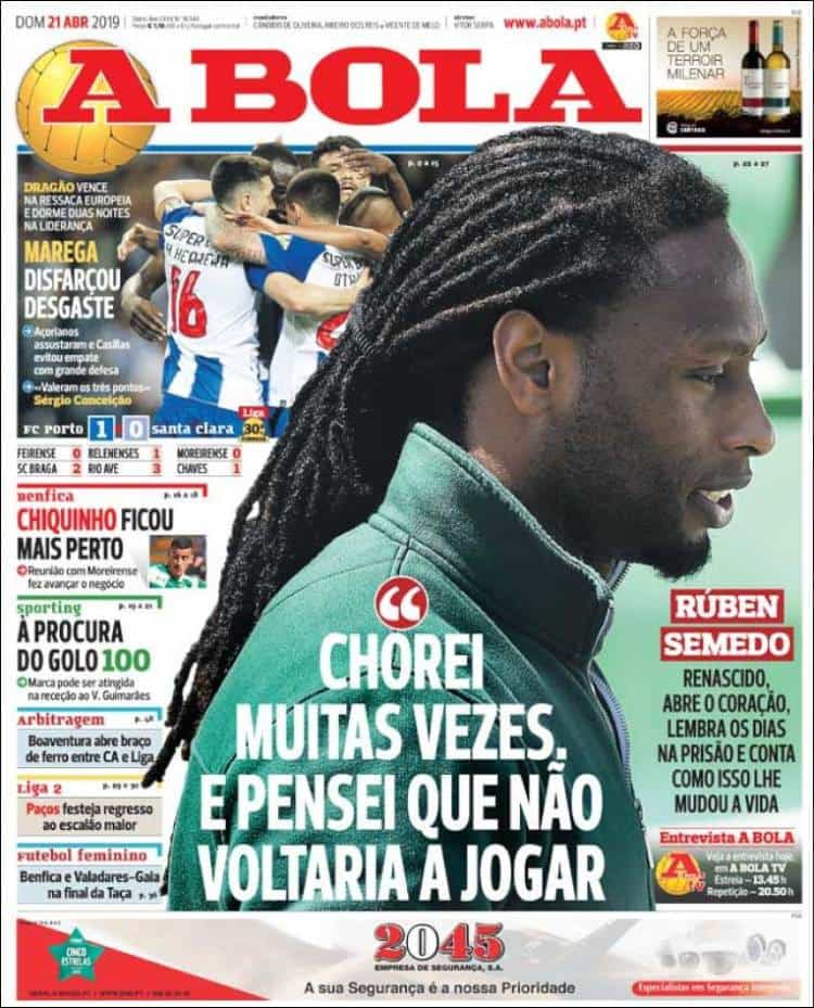 Cá dentro: As lágrimas de Rúben Semedo e a fonte de energia do Dragão