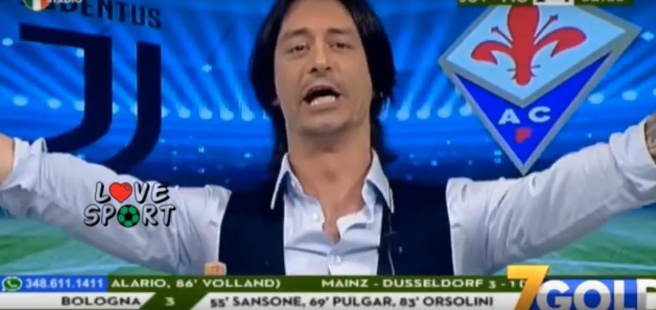 Relator italiano enlouquece na televisão com o título da Juve