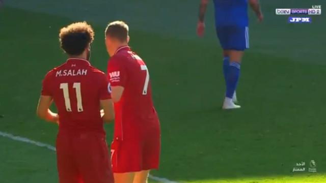Salah queria bater penálti, mas Milner não deixou