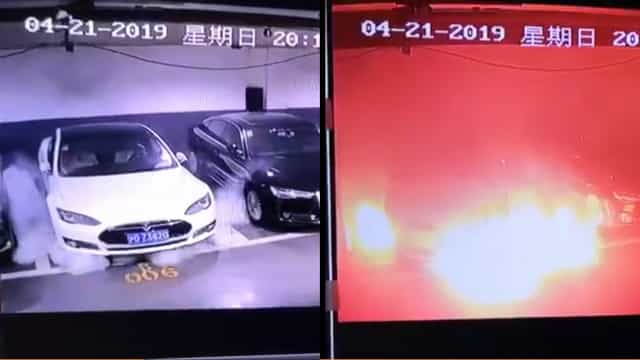 Tesla estacionado irrompeu em chamas sem explicação