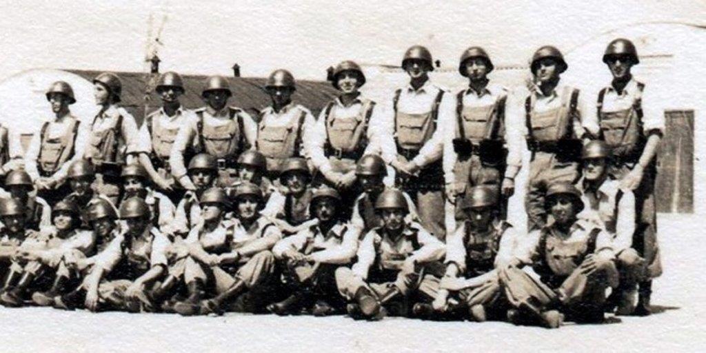Estes foram os primeiros recrutas da Força Aérea. Estávamos em 1959