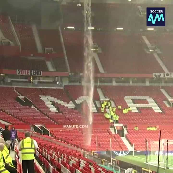 Tempestade em Old Trafford e problema nas bancadas antes do United-City
