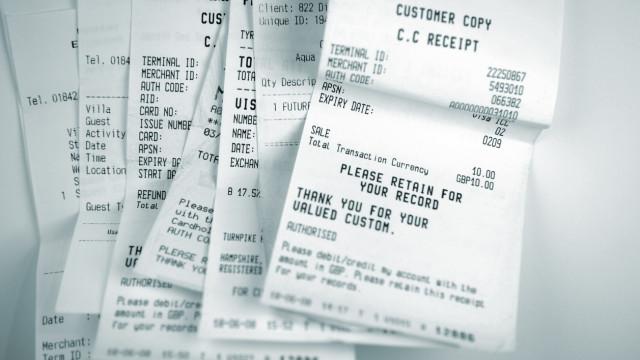 Estudo revela que talões de compra contém substância tóxica e cancerígena