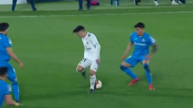 A finta incrível da nova coqueluche do Real Madrid