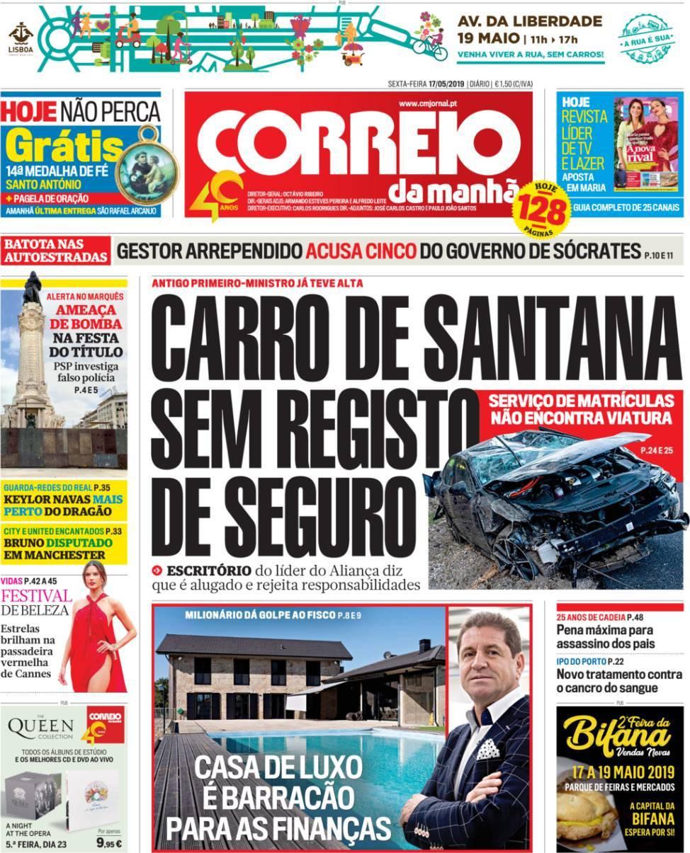 Hoje é notícia: Carro de Santana sem seguro?; Mãe e avó agridem docente