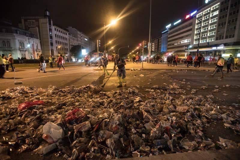 Bruno Lage bem lembrou mas quem limpou a praça… não foram os adeptos