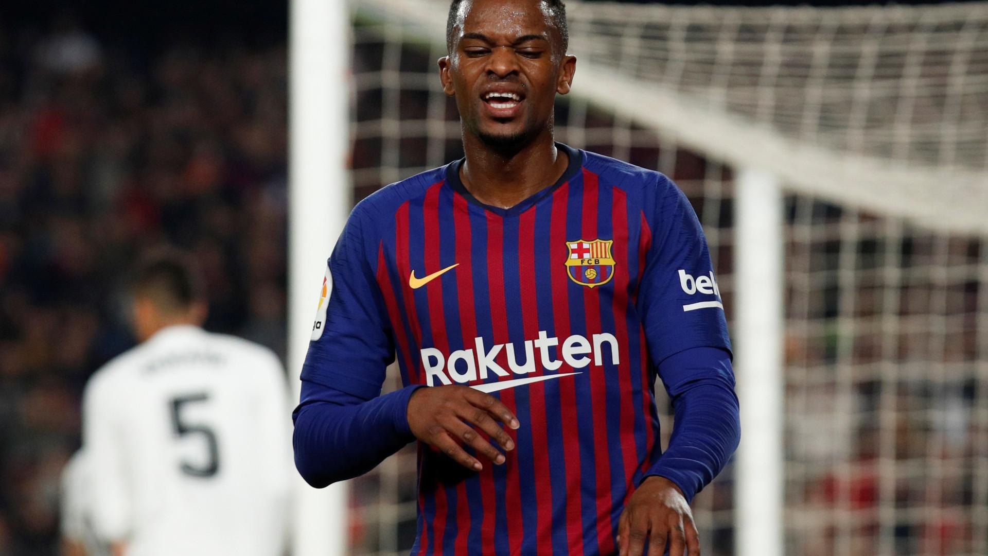 Nélson Semedo sofreu contusão cerebral durante jogo do Barça