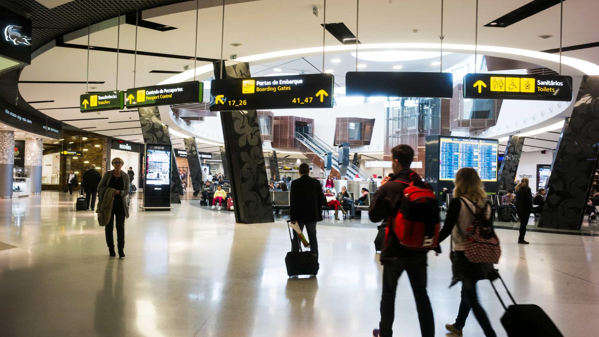 Movimento nos aeroportos portugueses sobe 2,3% até setembro