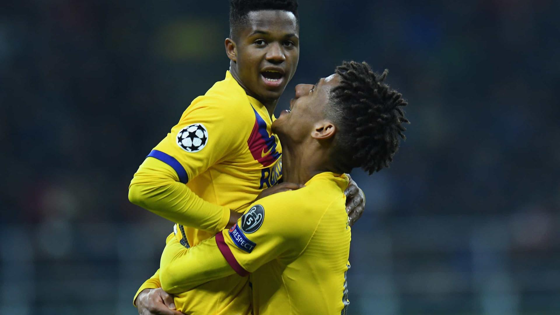 Ansu Fati torna-se no mais jovem de sempre a marcar na Champions