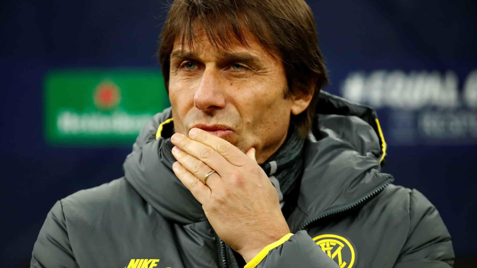"""Conte e a eliminação da Champions: """"Estamos desiludidos, merecíamos mais"""""""