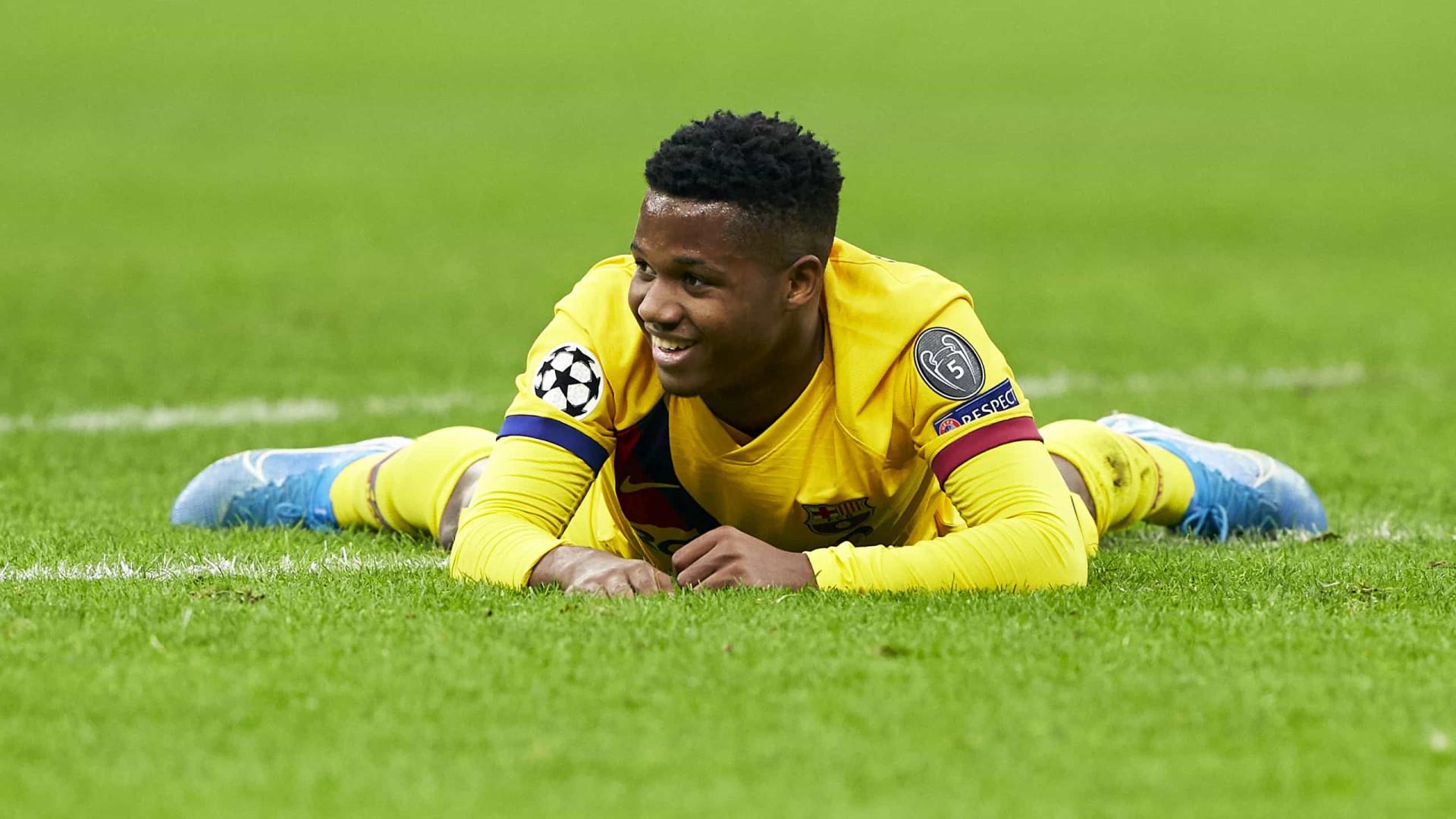 """Ansu Fati e o recorde na Champions: """"Aprendo com os melhores"""""""