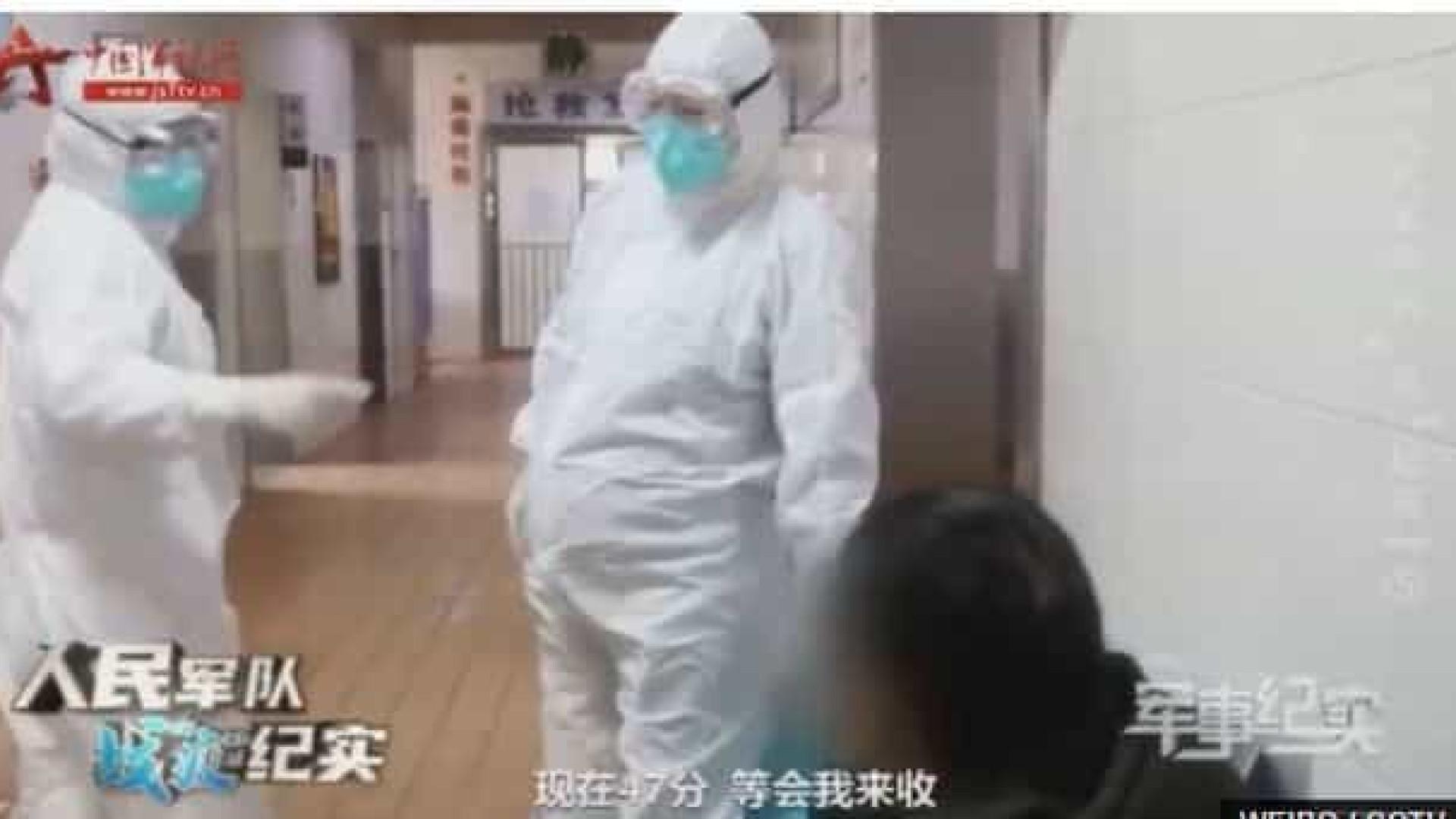 Covid-19. Enfermeira grávida a trabalhar na China gera polémica