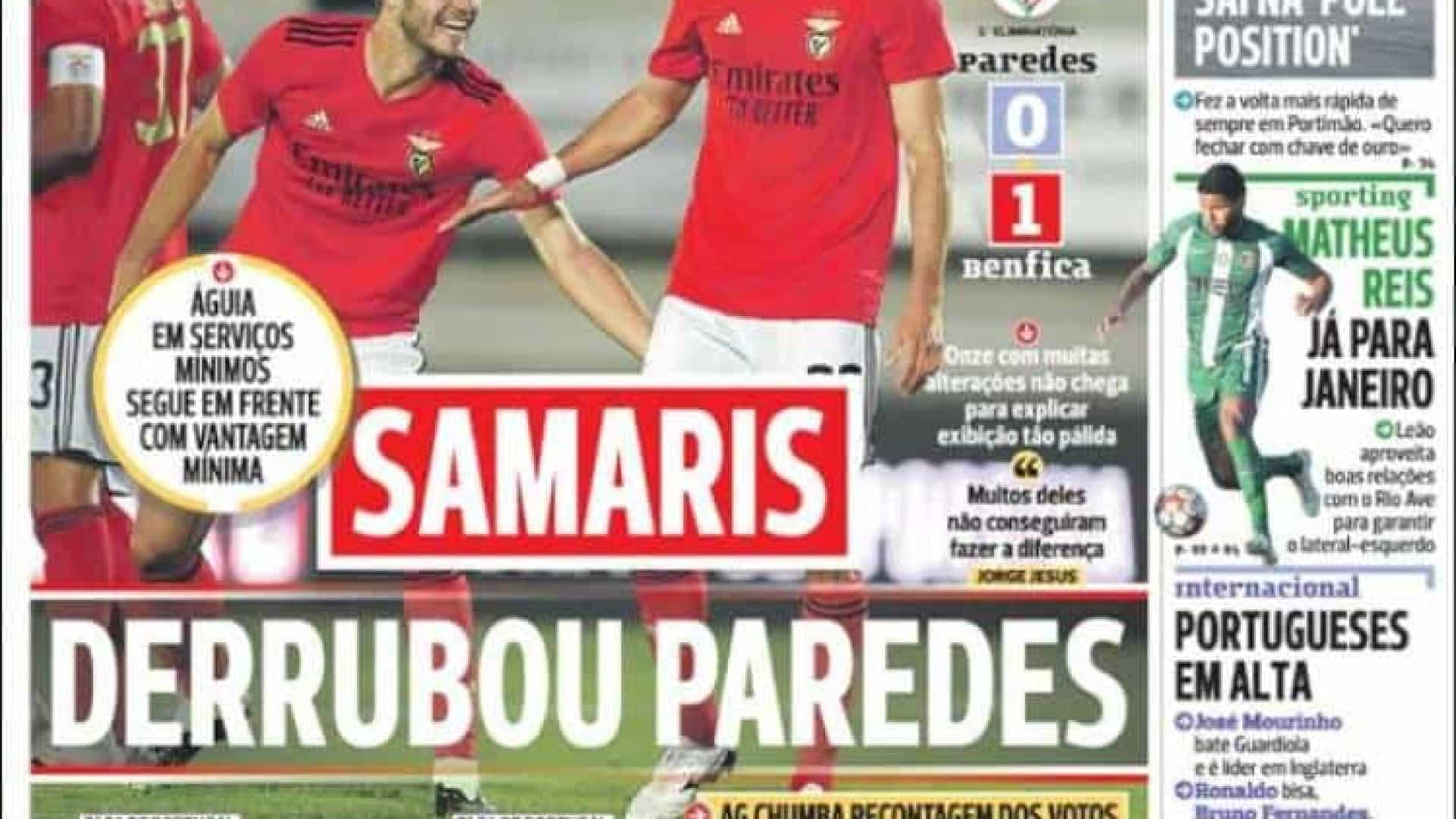 Por cá: Samaris derrubou Parredes e Miguel Oliveira dá show