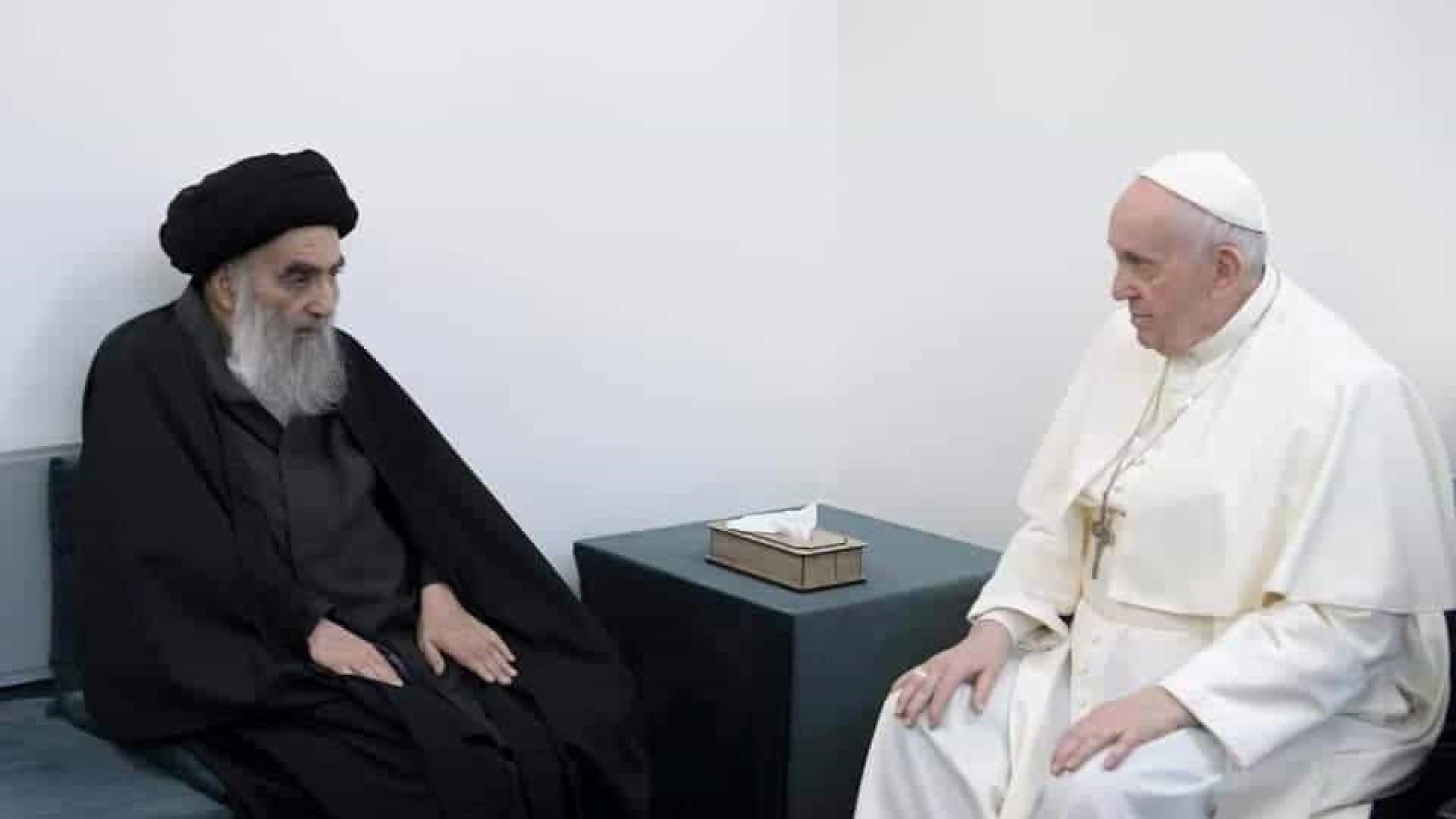 Histórico. Papa Francisco encontra-se com principal líder xiita do Iraque