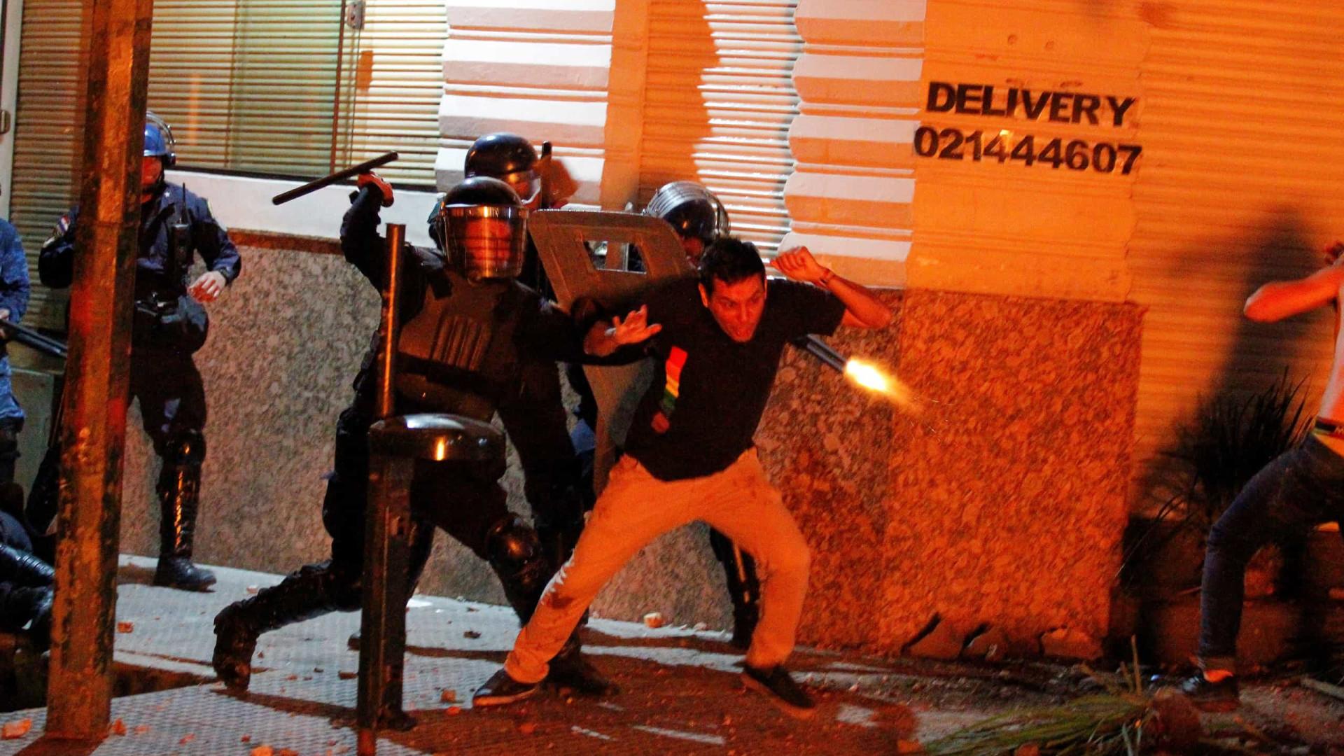 Paraguai palco de conflitos entre polícia e manifestantes anti-Presidente