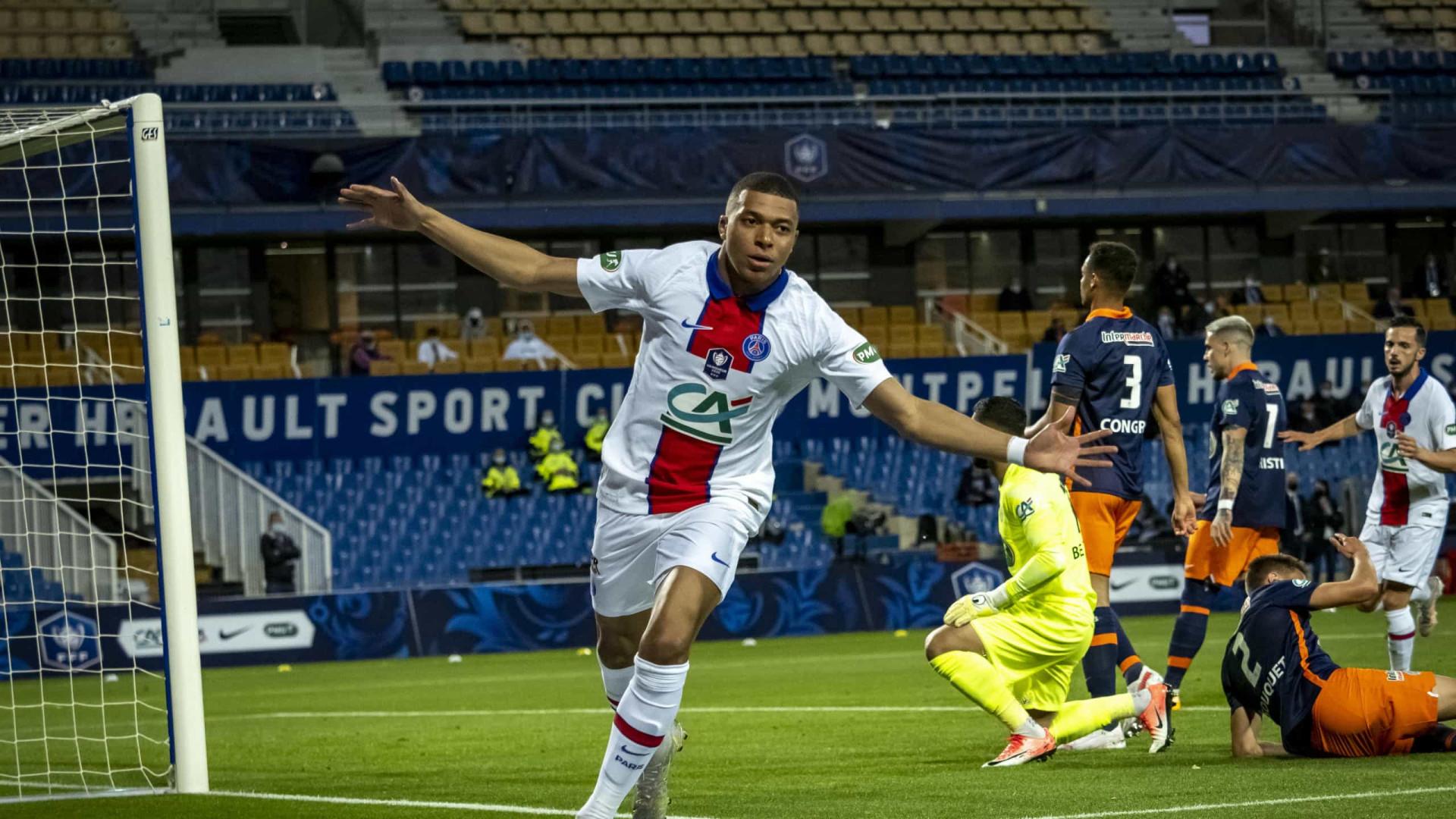 PSG treme frente ao Montpellier, mas assegura passagem à final da Taça