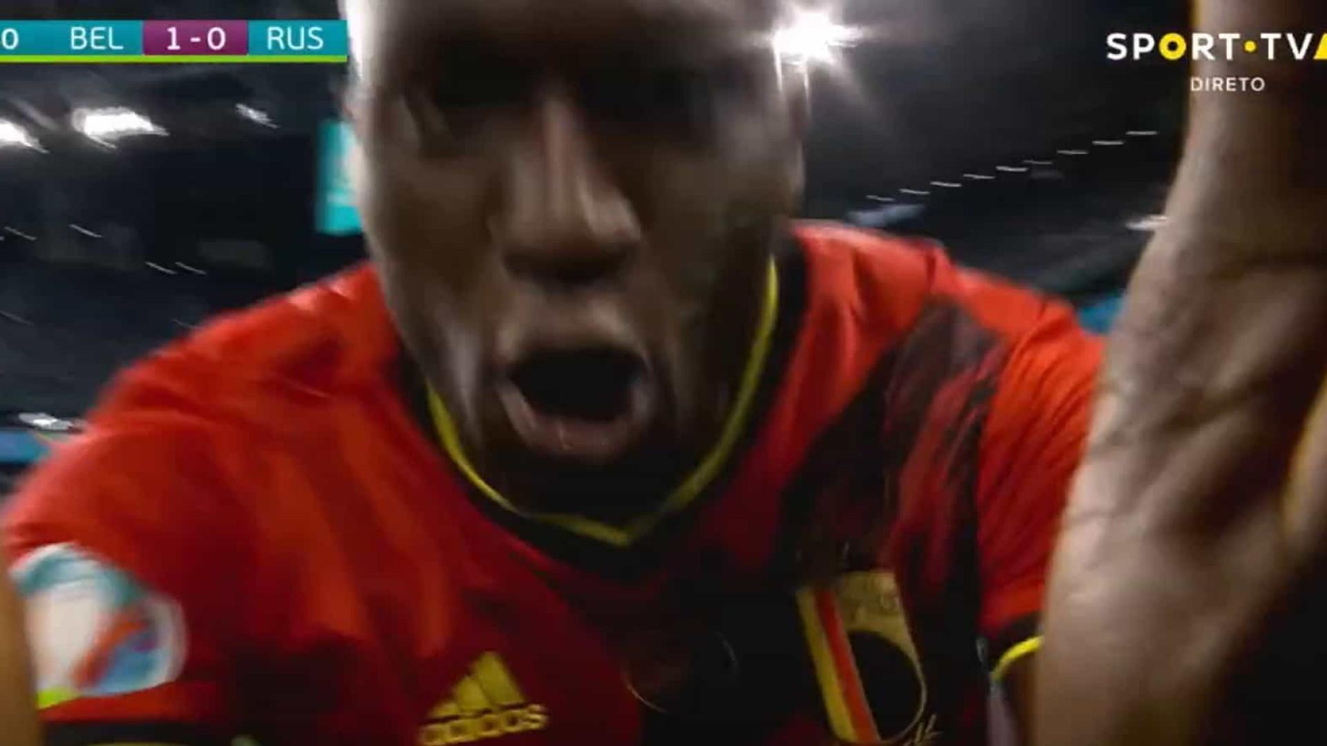 """Lukaku marca e dedica golo a Eriksen: """"Chris, eu amo-te"""""""