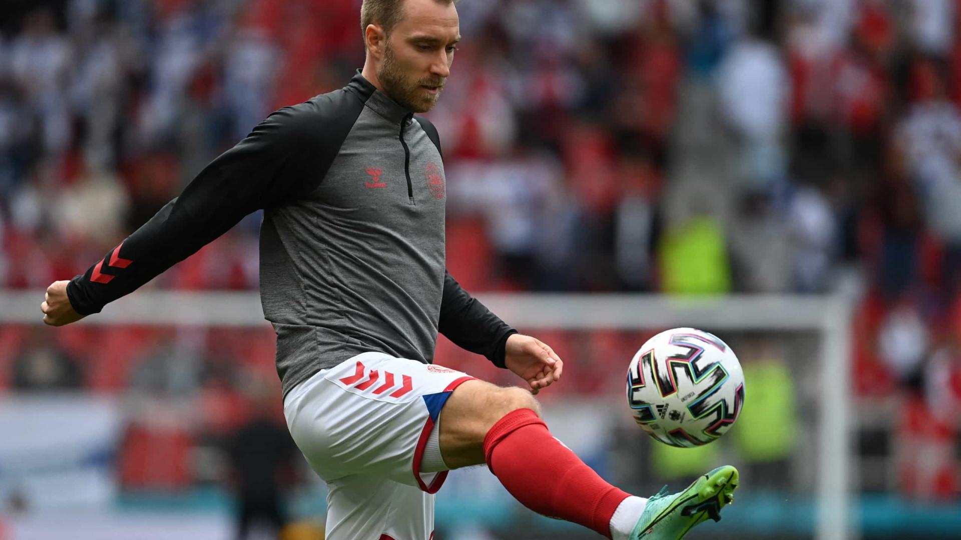 Dinamarca-Finlândia: UEFA entrega prémio de melhor em campo a Eriksen